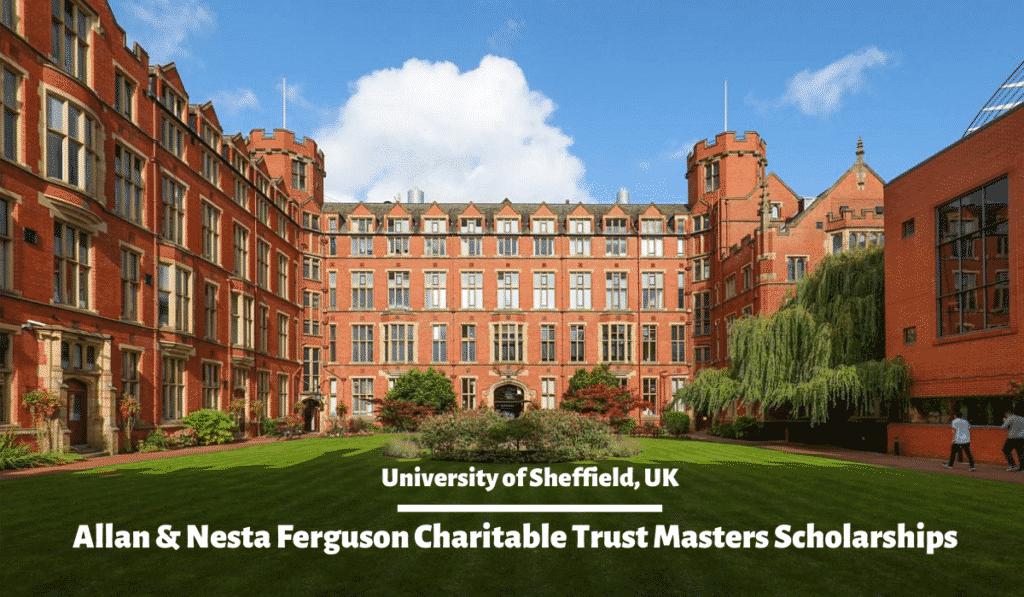 Allan and Nesta Ferguson Master Scholarship 2020