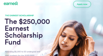 Earnest Scholarship Fund in USA, 2020