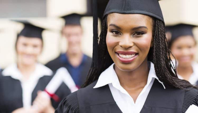 african american female graduate close up