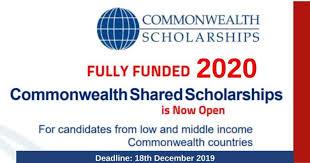 Commonwealth Scholarship 2020